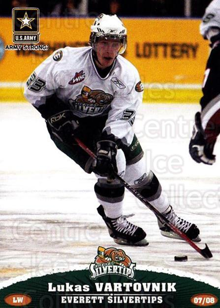 2007-08 Everett Silvertips #23 Lukas Vartovnik<br/>2 In Stock - $3.00 each - <a href=https://centericecollectibles.foxycart.com/cart?name=2007-08%20Everett%20Silvertips%20%2323%20Lukas%20Vartovnik...&price=$3.00&code=700635 class=foxycart> Buy it now! </a>