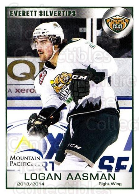 2013-14 Everett Silvertips #1 Logan Aasman<br/>3 In Stock - $3.00 each - <a href=https://centericecollectibles.foxycart.com/cart?name=2013-14%20Everett%20Silvertips%20%231%20Logan%20Aasman...&quantity_max=3&price=$3.00&code=700641 class=foxycart> Buy it now! </a>
