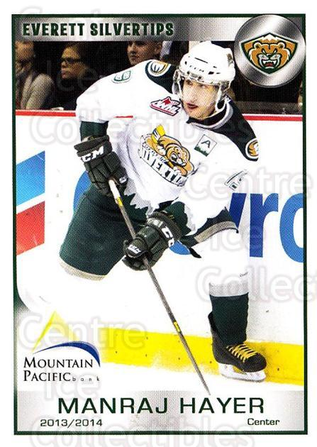 2013-14 Everett Silvertips #9 Manraj Hayer<br/>3 In Stock - $3.00 each - <a href=https://centericecollectibles.foxycart.com/cart?name=2013-14%20Everett%20Silvertips%20%239%20Manraj%20Hayer...&price=$3.00&code=700649 class=foxycart> Buy it now! </a>