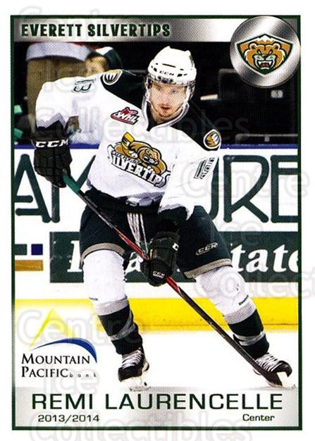 2013-14 Everett Silvertips #13 Remi Laurencelle<br/>3 In Stock - $3.00 each - <a href=https://centericecollectibles.foxycart.com/cart?name=2013-14%20Everett%20Silvertips%20%2313%20Remi%20Laurencell...&price=$3.00&code=700653 class=foxycart> Buy it now! </a>