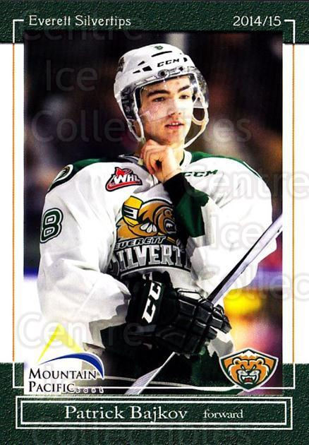 2014-15 Everett Silvertips #6 Patrick Bajkov<br/>12 In Stock - $3.00 each - <a href=https://centericecollectibles.foxycart.com/cart?name=2014-15%20Everett%20Silvertips%20%236%20Patrick%20Bajkov...&quantity_max=12&price=$3.00&code=700674 class=foxycart> Buy it now! </a>