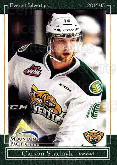2014-15 Everett Silvertips #9 Carson Stadnyk<br/>14 In Stock - $3.00 each - <a href=https://centericecollectibles.foxycart.com/cart?name=2014-15%20Everett%20Silvertips%20%239%20Carson%20Stadnyk...&price=$3.00&code=700677 class=foxycart> Buy it now! </a>