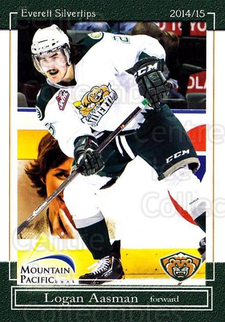 2014-15 Everett Silvertips #12 Logan Aasman<br/>14 In Stock - $3.00 each - <a href=https://centericecollectibles.foxycart.com/cart?name=2014-15%20Everett%20Silvertips%20%2312%20Logan%20Aasman...&quantity_max=14&price=$3.00&code=700680 class=foxycart> Buy it now! </a>