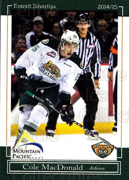 2014-15 Everett Silvertips #14 Cole MacDonald<br/>14 In Stock - $3.00 each - <a href=https://centericecollectibles.foxycart.com/cart?name=2014-15%20Everett%20Silvertips%20%2314%20Cole%20MacDonald...&price=$3.00&code=700682 class=foxycart> Buy it now! </a>