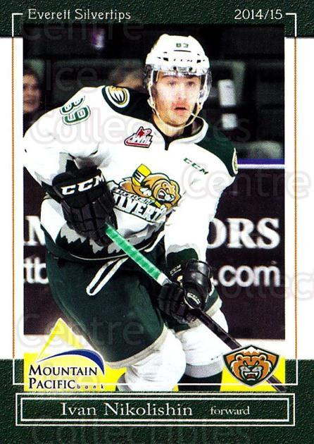 2014-15 Everett Silvertips #21 Ivan Nikolishin<br/>14 In Stock - $3.00 each - <a href=https://centericecollectibles.foxycart.com/cart?name=2014-15%20Everett%20Silvertips%20%2321%20Ivan%20Nikolishin...&price=$3.00&code=700689 class=foxycart> Buy it now! </a>