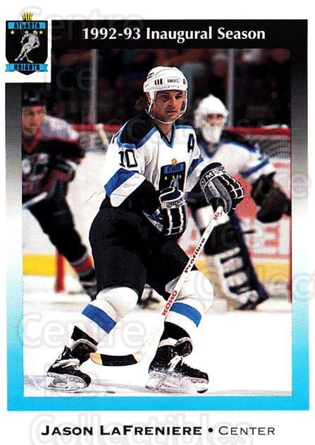 1992-93 Atlanta Knights #8 Jason Lafreniere<br/>1 In Stock - $3.00 each - <a href=https://centericecollectibles.foxycart.com/cart?name=1992-93%20Atlanta%20Knights%20%238%20Jason%20Lafrenier...&price=$3.00&code=700726 class=foxycart> Buy it now! </a>