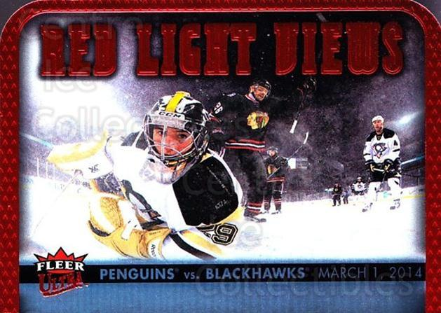 2014-15 Ultra Red Light Views #3 Pittsburgh Penguins, Chicago Blackhawks, Marc-Andre Fleury<br/>4 In Stock - $2.00 each - <a href=https://centericecollectibles.foxycart.com/cart?name=2014-15%20Ultra%20Red%20Light%20Views%20%233%20Pittsburgh%20Peng...&quantity_max=4&price=$2.00&code=700975 class=foxycart> Buy it now! </a>