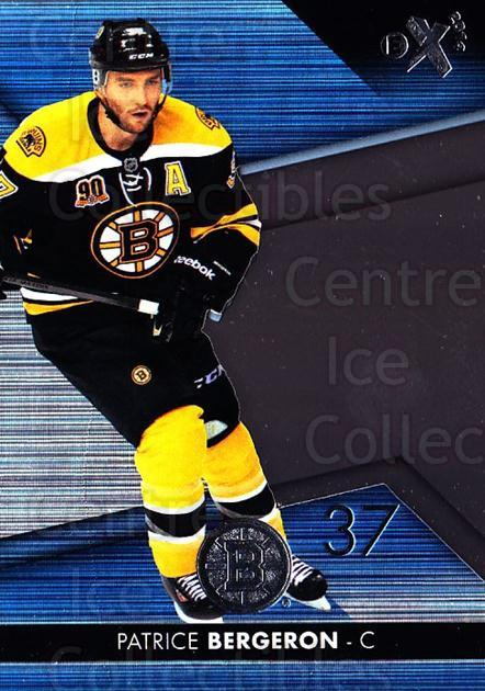 2014-15 Ultra EX #18 Patrice Bergeron<br/>1 In Stock - $5.00 each - <a href=https://centericecollectibles.foxycart.com/cart?name=2014-15%20Ultra%20EX%20%2318%20Patrice%20Bergero...&quantity_max=1&price=$5.00&code=701000 class=foxycart> Buy it now! </a>