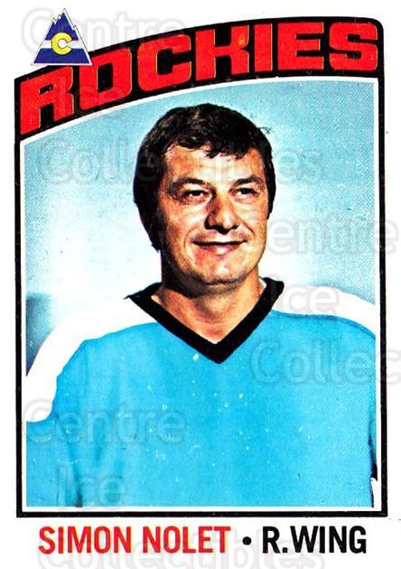 1976-77 O-Pee-Chee #64 Simon Nolet<br/>2 In Stock - $2.00 each - <a href=https://centericecollectibles.foxycart.com/cart?name=1976-77%20O-Pee-Chee%20%2364%20Simon%20Nolet...&quantity_max=2&price=$2.00&code=701170 class=foxycart> Buy it now! </a>
