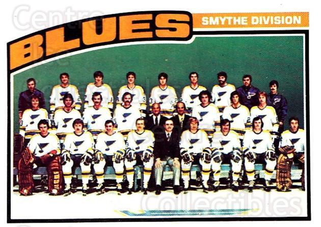 1976-77 O-Pee-Chee #146 St. Louis Blues, Checklist<br/>2 In Stock - $5.00 each - <a href=https://centericecollectibles.foxycart.com/cart?name=1976-77%20O-Pee-Chee%20%23146%20St.%20Louis%20Blues...&quantity_max=2&price=$5.00&code=701252 class=foxycart> Buy it now! </a>