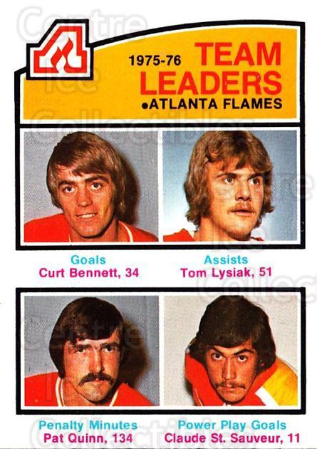 1976-77 O-Pee-Chee #379 Curt Bennett, Tom Lysiak, Pat Quinn, Claude StSauveur<br/>2 In Stock - $3.00 each - <a href=https://centericecollectibles.foxycart.com/cart?name=1976-77%20O-Pee-Chee%20%23379%20Curt%20Bennett,%20T...&quantity_max=2&price=$3.00&code=701485 class=foxycart> Buy it now! </a>