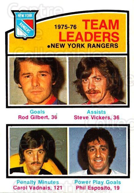 1976-77 O-Pee-Chee #390 Rod Gilbert, Steve Vickers, Carol Vadnais, Phil Esposito<br/>2 In Stock - $3.00 each - <a href=https://centericecollectibles.foxycart.com/cart?name=1976-77%20O-Pee-Chee%20%23390%20Rod%20Gilbert,%20St...&quantity_max=2&price=$3.00&code=701496 class=foxycart> Buy it now! </a>