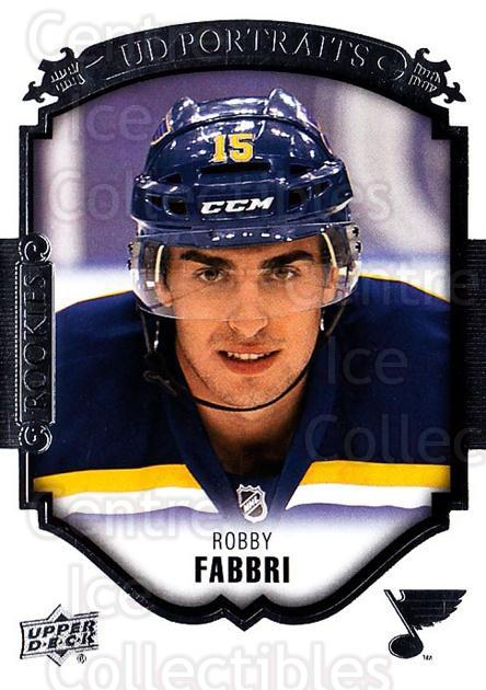 2015-16 Upper Deck UD Portraits #105 Robby Fabbri<br/>9 In Stock - $3.00 each - <a href=https://centericecollectibles.foxycart.com/cart?name=2015-16%20Upper%20Deck%20UD%20Portraits%20%23105%20Robby%20Fabbri...&quantity_max=9&price=$3.00&code=701607 class=foxycart> Buy it now! </a>
