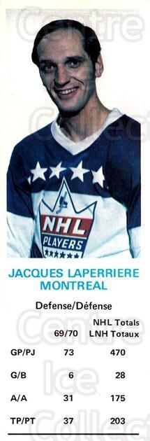1970-71 Dads Cookies #69 Jacques Laperriere<br/>1 In Stock - $5.00 each - <a href=https://centericecollectibles.foxycart.com/cart?name=1970-71%20Dads%20Cookies%20%2369%20Jacques%20Laperri...&price=$5.00&code=701681 class=foxycart> Buy it now! </a>