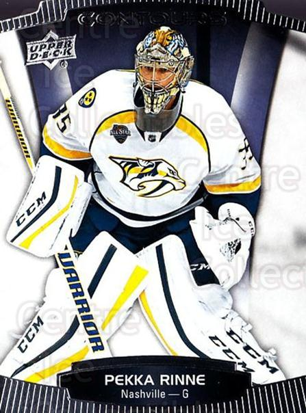 2015-16 Upper Deck Contours #15 Pekka Rinne<br/>5 In Stock - $2.00 each - <a href=https://centericecollectibles.foxycart.com/cart?name=2015-16%20Upper%20Deck%20Contours%20%2315%20Pekka%20Rinne...&quantity_max=5&price=$2.00&code=701771 class=foxycart> Buy it now! </a>
