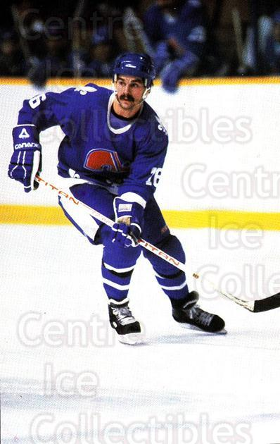 1984-85 Quebec Nordiques Postcards #11 Michel Goulet<br/>1 In Stock - $3.00 each - <a href=https://centericecollectibles.foxycart.com/cart?name=1984-85%20Quebec%20Nordiques%20Postcards%20%2311%20Michel%20Goulet...&quantity_max=1&price=$3.00&code=702046 class=foxycart> Buy it now! </a>