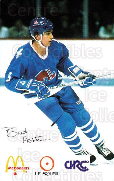 1985-86 Quebec Nordiques McDonalds B #2 Brent Ashton<br/>2 In Stock - $3.00 each - <a href=https://centericecollectibles.foxycart.com/cart?name=1985-86%20Quebec%20Nordiques%20McDonalds%20B%20%232%20Brent%20Ashton...&quantity_max=2&price=$3.00&code=702132 class=foxycart> Buy it now! </a>