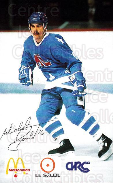 1985-86 Quebec Nordiques McDonalds B #11 Michel Goulet<br/>2 In Stock - $3.00 each - <a href=https://centericecollectibles.foxycart.com/cart?name=1985-86%20Quebec%20Nordiques%20McDonalds%20B%20%2311%20Michel%20Goulet...&quantity_max=2&price=$3.00&code=702144 class=foxycart> Buy it now! </a>