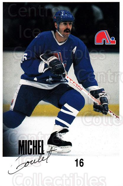 1988-89 Quebec Nordiques Team Issue #13 Michel Goulet<br/>1 In Stock - $3.00 each - <a href=https://centericecollectibles.foxycart.com/cart?name=1988-89%20Quebec%20Nordiques%20Team%20Issue%20%2313%20Michel%20Goulet...&quantity_max=1&price=$3.00&code=702175 class=foxycart> Buy it now! </a>