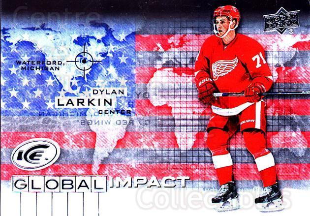 2015-16 UD Ice Global Impact #DL Dylan Larkin<br/>1 In Stock - $5.00 each - <a href=https://centericecollectibles.foxycart.com/cart?name=2015-16%20UD%20Ice%20Global%20Impact%20%23DL%20Dylan%20Larkin...&quantity_max=1&price=$5.00&code=702313 class=foxycart> Buy it now! </a>