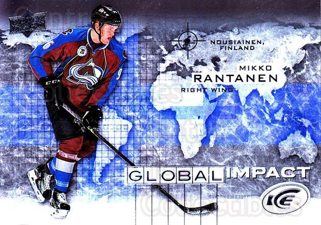 2015-16 UD Ice Global Impact #MR Mikko Rantanen<br/>1 In Stock - $5.00 each - <a href=https://centericecollectibles.foxycart.com/cart?name=2015-16%20UD%20Ice%20Global%20Impact%20%23MR%20Mikko%20Rantanen...&quantity_max=1&price=$5.00&code=702324 class=foxycart> Buy it now! </a>