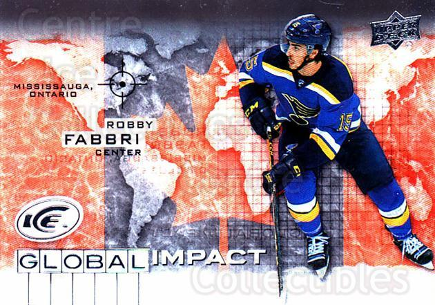 2015-16 UD Ice Global Impact #RF Robby Fabbri<br/>2 In Stock - $3.00 each - <a href=https://centericecollectibles.foxycart.com/cart?name=2015-16%20UD%20Ice%20Global%20Impact%20%23RF%20Robby%20Fabbri...&quantity_max=2&price=$3.00&code=702331 class=foxycart> Buy it now! </a>