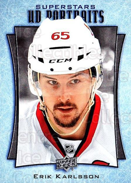2016-17 Upper Deck UD Portraits #52 Erik Karlsson<br/>1 In Stock - $3.00 each - <a href=https://centericecollectibles.foxycart.com/cart?name=2016-17%20Upper%20Deck%20UD%20Portraits%20%2352%20Erik%20Karlsson...&quantity_max=1&price=$3.00&code=702487 class=foxycart> Buy it now! </a>