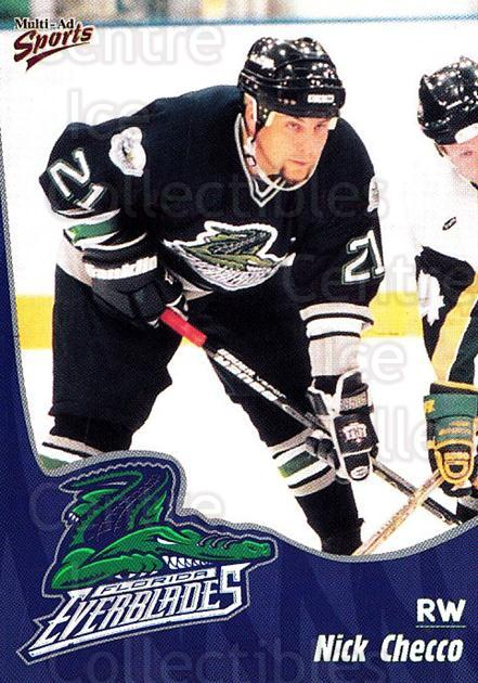 1998-99 Florida Everblades #3 Nick Checco<br/>1 In Stock - $3.00 each - <a href=https://centericecollectibles.foxycart.com/cart?name=1998-99%20Florida%20Everblades%20%233%20Nick%20Checco...&price=$3.00&code=702591 class=foxycart> Buy it now! </a>