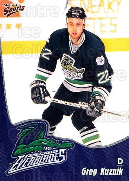 1998-99 Florida Everblades #10 Greg Kuznik<br/>1 In Stock - $3.00 each - <a href=https://centericecollectibles.foxycart.com/cart?name=1998-99%20Florida%20Everblades%20%2310%20Greg%20Kuznik...&price=$3.00&code=702598 class=foxycart> Buy it now! </a>