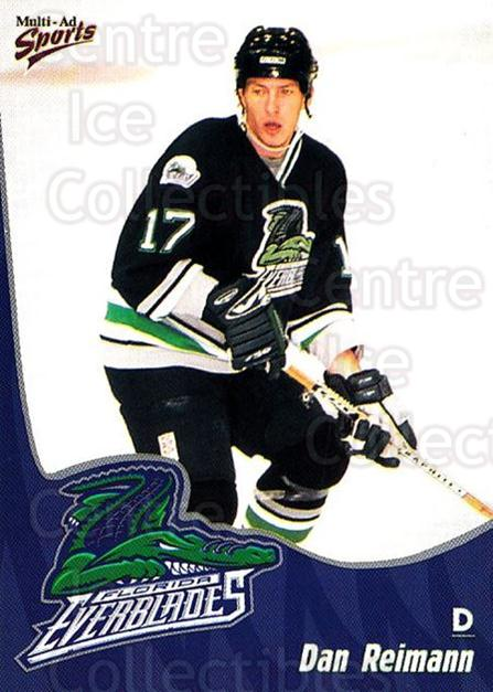 1998-99 Florida Everblades #17 Dan Reimann<br/>1 In Stock - $3.00 each - <a href=https://centericecollectibles.foxycart.com/cart?name=1998-99%20Florida%20Everblades%20%2317%20Dan%20Reimann...&price=$3.00&code=702605 class=foxycart> Buy it now! </a>