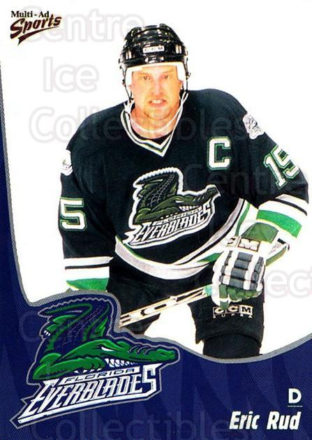 1998-99 Florida Everblades #19 Eric Rud<br/>1 In Stock - $3.00 each - <a href=https://centericecollectibles.foxycart.com/cart?name=1998-99%20Florida%20Everblades%20%2319%20Eric%20Rud...&price=$3.00&code=702607 class=foxycart> Buy it now! </a>