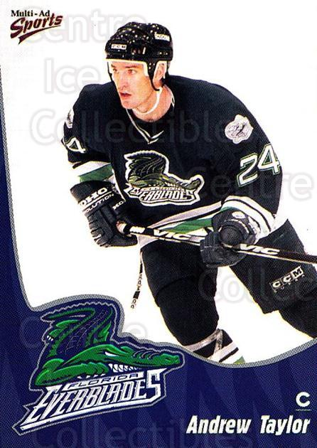 1998-99 Florida Everblades #21 Andrew Taylor<br/>1 In Stock - $3.00 each - <a href=https://centericecollectibles.foxycart.com/cart?name=1998-99%20Florida%20Everblades%20%2321%20Andrew%20Taylor...&price=$3.00&code=702609 class=foxycart> Buy it now! </a>