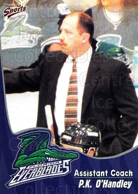 1998-99 Florida Everblades #22 PK O'Handley<br/>1 In Stock - $3.00 each - <a href=https://centericecollectibles.foxycart.com/cart?name=1998-99%20Florida%20Everblades%20%2322%20PK%20O'Handley...&quantity_max=1&price=$3.00&code=702610 class=foxycart> Buy it now! </a>