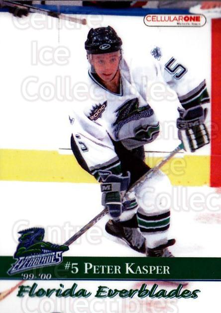 1999-00 Florida Everblades #5 Peter Kasper<br/>1 In Stock - $3.00 each - <a href=https://centericecollectibles.foxycart.com/cart?name=1999-00%20Florida%20Everblades%20%235%20Peter%20Kasper...&price=$3.00&code=702619 class=foxycart> Buy it now! </a>