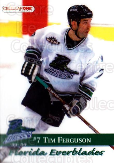 1999-00 Florida Everblades #6 Tim Ferguson<br/>1 In Stock - $3.00 each - <a href=https://centericecollectibles.foxycart.com/cart?name=1999-00%20Florida%20Everblades%20%236%20Tim%20Ferguson...&price=$3.00&code=702620 class=foxycart> Buy it now! </a>