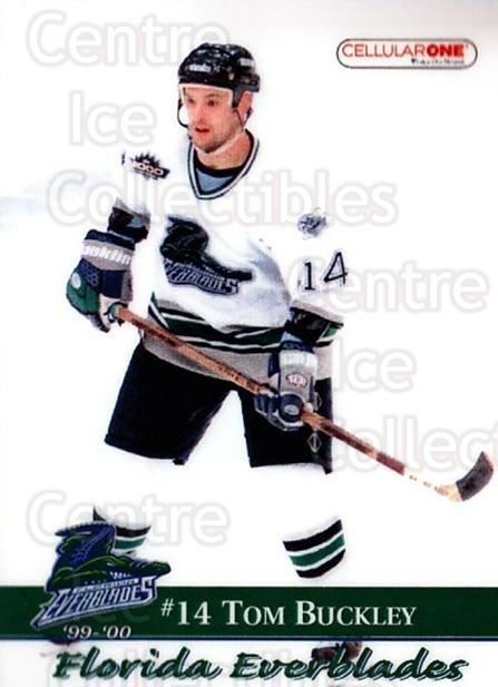 1999-00 Florida Everblades #10 Tom Buckley<br/>1 In Stock - $3.00 each - <a href=https://centericecollectibles.foxycart.com/cart?name=1999-00%20Florida%20Everblades%20%2310%20Tom%20Buckley...&price=$3.00&code=702624 class=foxycart> Buy it now! </a>