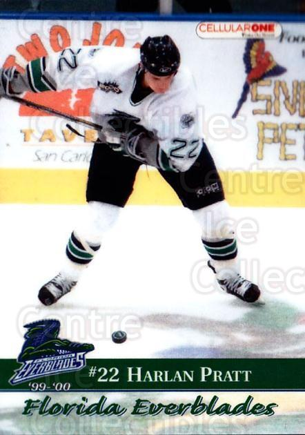 1999-00 Florida Everblades #17 Harlan Pratt<br/>1 In Stock - $3.00 each - <a href=https://centericecollectibles.foxycart.com/cart?name=1999-00%20Florida%20Everblades%20%2317%20Harlan%20Pratt...&price=$3.00&code=702631 class=foxycart> Buy it now! </a>