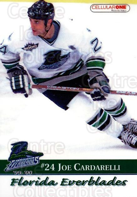 1999-00 Florida Everblades #19 Joe Cardarelli<br/>1 In Stock - $3.00 each - <a href=https://centericecollectibles.foxycart.com/cart?name=1999-00%20Florida%20Everblades%20%2319%20Joe%20Cardarelli...&quantity_max=1&price=$3.00&code=702633 class=foxycart> Buy it now! </a>