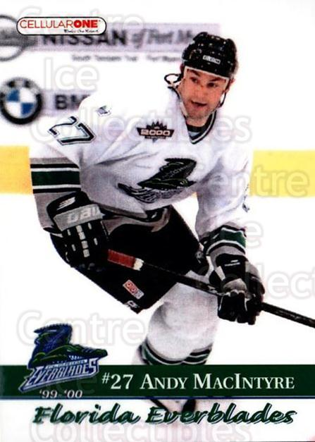 1999-00 Florida Everblades #21 Andy MacIntyre<br/>1 In Stock - $3.00 each - <a href=https://centericecollectibles.foxycart.com/cart?name=1999-00%20Florida%20Everblades%20%2321%20Andy%20MacIntyre...&price=$3.00&code=702635 class=foxycart> Buy it now! </a>