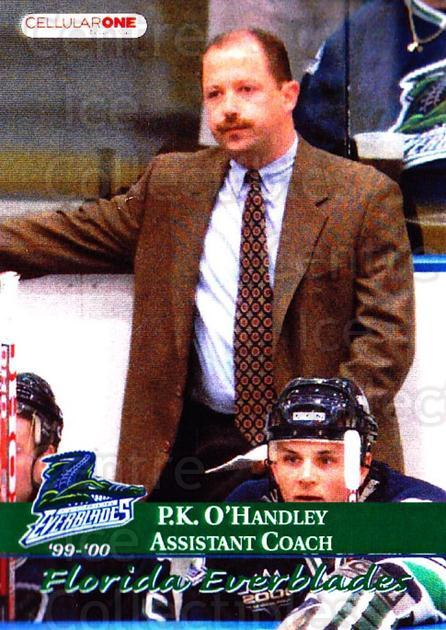 1999-00 Florida Everblades #24 PK O'Handley<br/>1 In Stock - $3.00 each - <a href=https://centericecollectibles.foxycart.com/cart?name=1999-00%20Florida%20Everblades%20%2324%20PK%20O'Handley...&quantity_max=1&price=$3.00&code=702638 class=foxycart> Buy it now! </a>