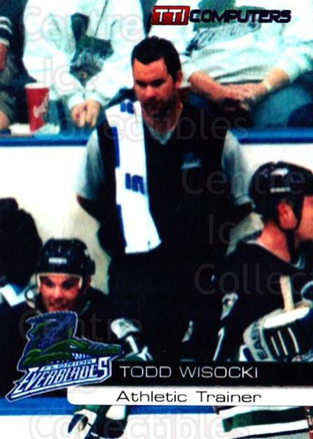 2000-01 Florida Everblades #5 Todd Wisocki<br/>1 In Stock - $3.00 each - <a href=https://centericecollectibles.foxycart.com/cart?name=2000-01%20Florida%20Everblades%20%235%20Todd%20Wisocki...&price=$3.00&code=702644 class=foxycart> Buy it now! </a>