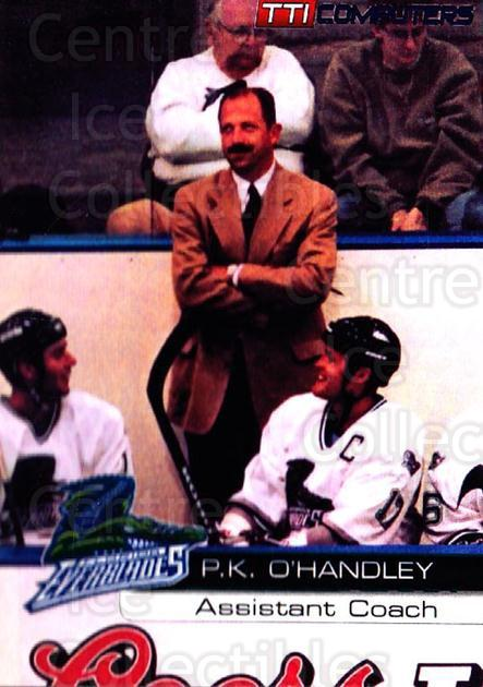 2000-01 Florida Everblades #6 PK O'Handley<br/>1 In Stock - $3.00 each - <a href=https://centericecollectibles.foxycart.com/cart?name=2000-01%20Florida%20Everblades%20%236%20PK%20O'Handley...&quantity_max=1&price=$3.00&code=702645 class=foxycart> Buy it now! </a>