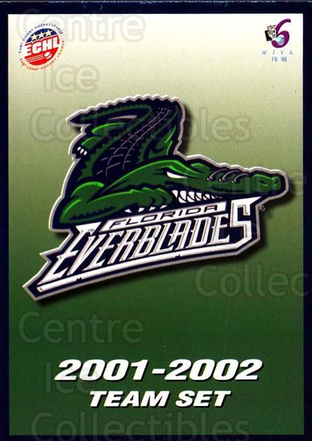 2001-02 Florida Everblades #1 Header Card, Checklist<br/>1 In Stock - $3.00 each - <a href=https://centericecollectibles.foxycart.com/cart?name=2001-02%20Florida%20Everblades%20%231%20Header%20Card,%20Ch...&price=$3.00&code=702665 class=foxycart> Buy it now! </a>