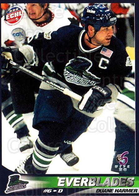 2001-02 Florida Everblades #6 Duane Harmer<br/>1 In Stock - $3.00 each - <a href=https://centericecollectibles.foxycart.com/cart?name=2001-02%20Florida%20Everblades%20%236%20Duane%20Harmer...&price=$3.00&code=702670 class=foxycart> Buy it now! </a>