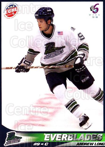 2001-02 Florida Everblades #7 Andrew Long<br/>1 In Stock - $3.00 each - <a href=https://centericecollectibles.foxycart.com/cart?name=2001-02%20Florida%20Everblades%20%237%20Andrew%20Long...&price=$3.00&code=702671 class=foxycart> Buy it now! </a>