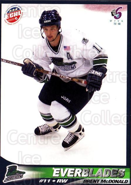 2001-02 Florida Everblades #9 Brent McDonald<br/>1 In Stock - $3.00 each - <a href=https://centericecollectibles.foxycart.com/cart?name=2001-02%20Florida%20Everblades%20%239%20Brent%20McDonald...&price=$3.00&code=702673 class=foxycart> Buy it now! </a>