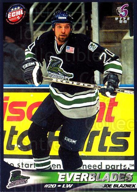 2001-02 Florida Everblades #14 Joe Blaznek<br/>1 In Stock - $3.00 each - <a href=https://centericecollectibles.foxycart.com/cart?name=2001-02%20Florida%20Everblades%20%2314%20Joe%20Blaznek...&quantity_max=1&price=$3.00&code=702678 class=foxycart> Buy it now! </a>