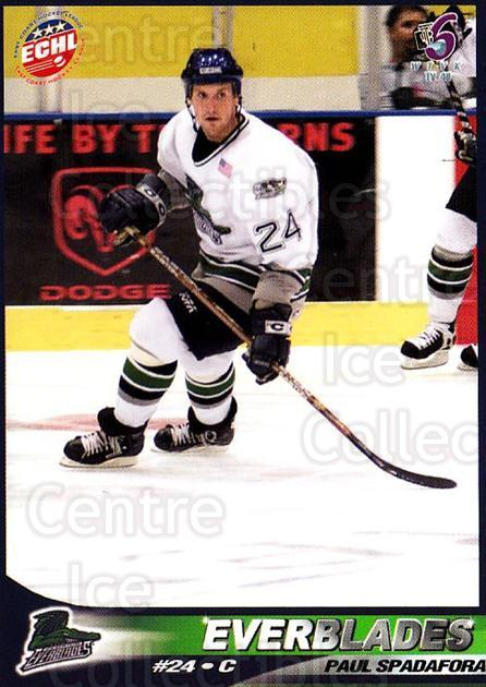 2001-02 Florida Everblades #16 Paul Spadafora<br/>1 In Stock - $3.00 each - <a href=https://centericecollectibles.foxycart.com/cart?name=2001-02%20Florida%20Everblades%20%2316%20Paul%20Spadafora...&price=$3.00&code=702680 class=foxycart> Buy it now! </a>