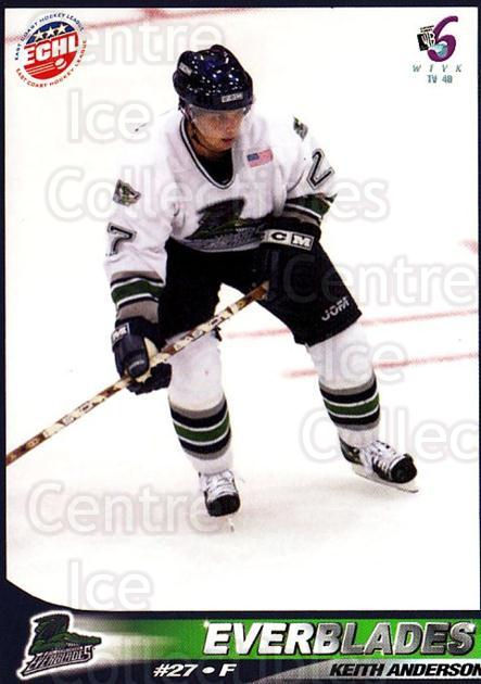 2001-02 Florida Everblades #17 Keith Anderson<br/>1 In Stock - $3.00 each - <a href=https://centericecollectibles.foxycart.com/cart?name=2001-02%20Florida%20Everblades%20%2317%20Keith%20Anderson...&price=$3.00&code=702681 class=foxycart> Buy it now! </a>