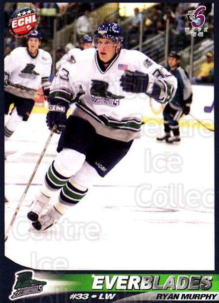 2001-02 Florida Everblades #20 Ryan Murphy<br/>1 In Stock - $3.00 each - <a href=https://centericecollectibles.foxycart.com/cart?name=2001-02%20Florida%20Everblades%20%2320%20Ryan%20Murphy...&price=$3.00&code=702684 class=foxycart> Buy it now! </a>